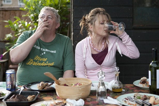 Lesley Manville,Peter Wight