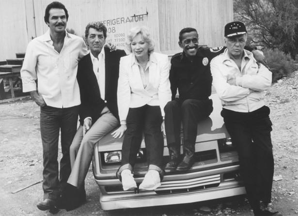 Burt Reynolds,Dean Martin,Frank Sinatra,Sammy Davis Jr.,Shirley MacLaine