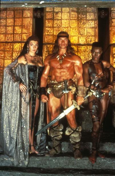 Arnold Schwarzenegger,Grace Jones,Sarah Douglas