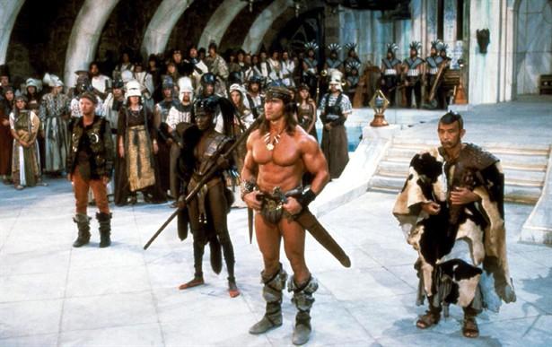 Arnold Schwarzenegger,Grace Jones