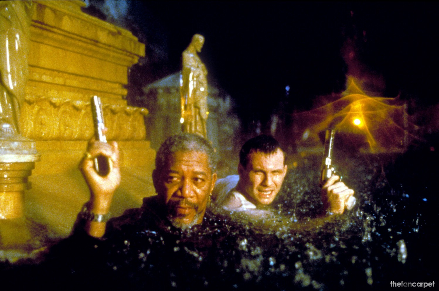 Christian Slater,Morgan Freeman