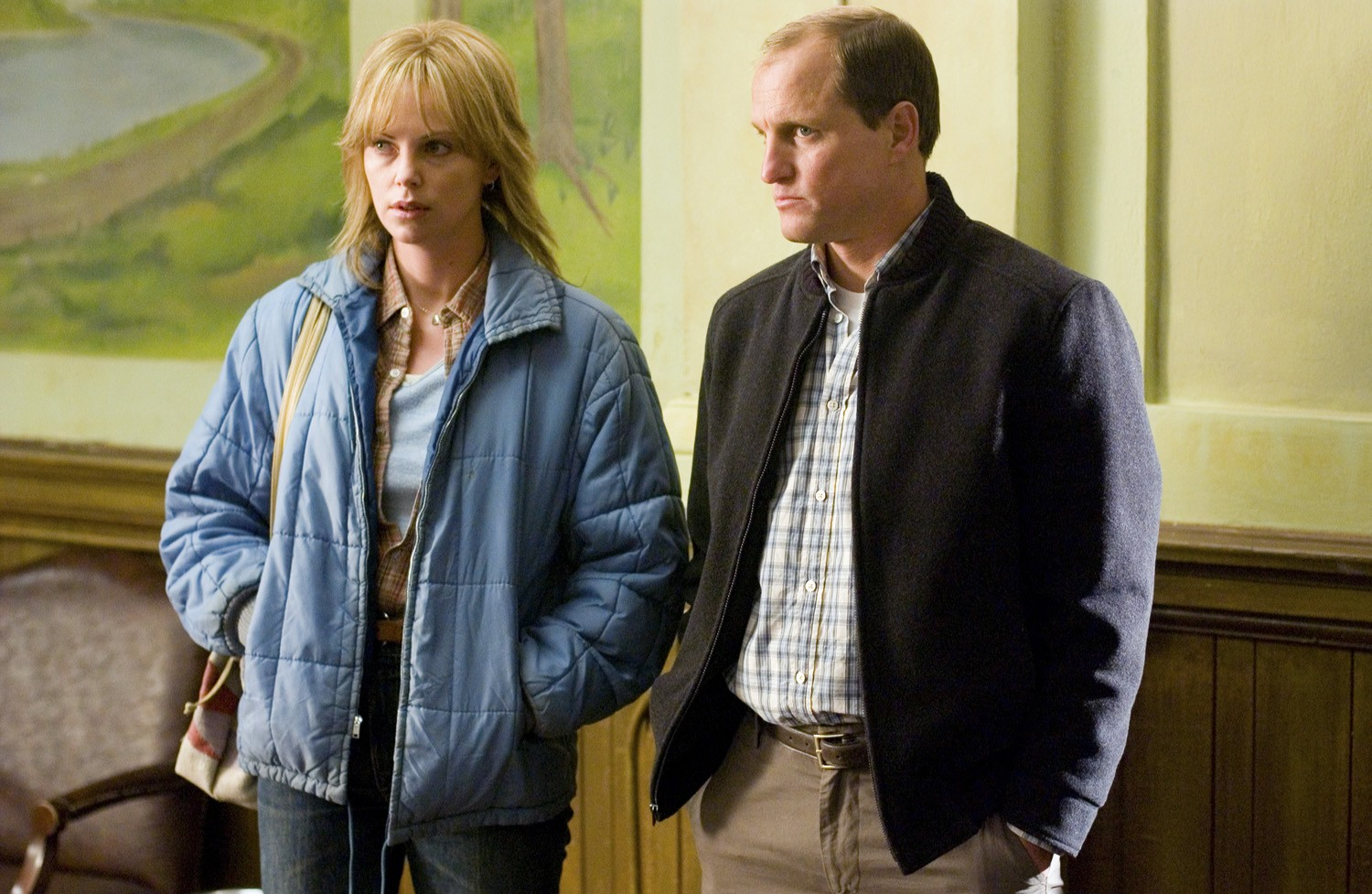 Charlize Theron,Woody Harrelson