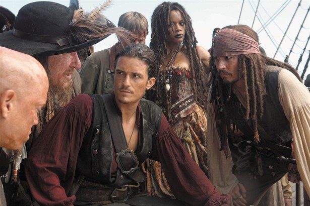 Geoffrey Rush,Johnny Depp,Naomie Harris,Orlando Bloom
