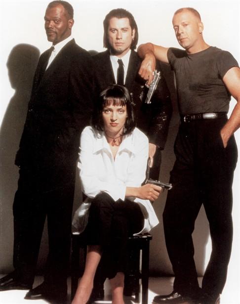 Bruce Willis,John Travolta,Samuel L. Jackson,Uma Thurman