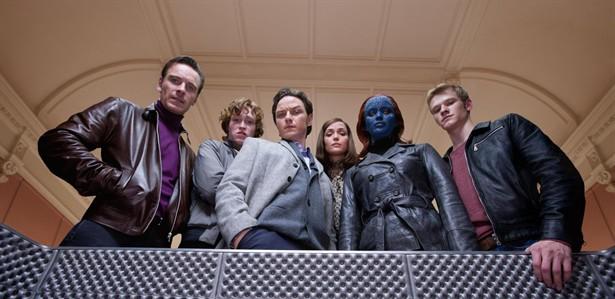 Caleb Landry Jones,James McAvoy,Jennifer Lawrence,Lucas Till,Michael Fassbender,Nicholas Hoult,Rose Byrne