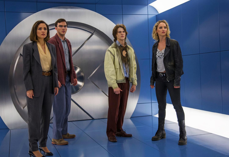Nicholas Hoult, Jennifer Lawrence, Rose Byrne, Lucas Till