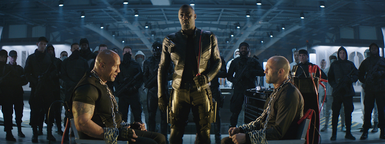 Dwayne Johnson, Jason Statham, Idris Elba