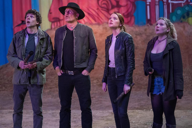 Abigail Breslin, Emma Stone, Woody Harrelson, Jesse Eisenberg
